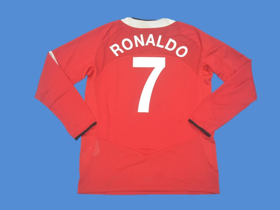 MANCHESTER UNITED 2005 2006 RONLDO 7 LONG SLEEVE HOME JERSEY CHAMPIONS LEAGUE