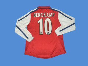 ARSENAL 2000 BERGKAMP 10 LONG SLEEVE HOME JERSEY