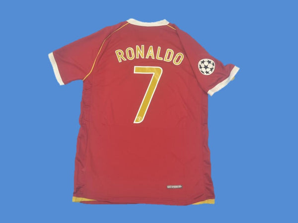 MANCHESTER UNITED 2006 2007 RONALDO 7 CHAMPIONS LEAGUE HOME JERSEY