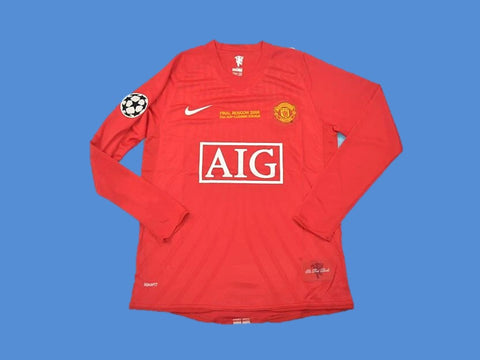 MANCHESTER UNITED 2007 2008 UCL FINAL LONG SLEEVE HOME JERSEY