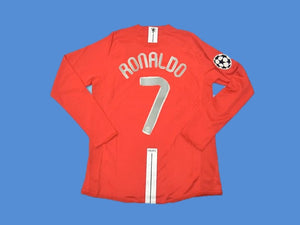 MANCHESTER UNITED 2007 2008 RONALDO 7 UCL FINAL HOME JERSEY
