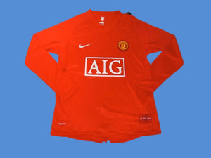 MANCHESTER UNITED 2007 2008 LONG SLEEVE HOME JERSEY