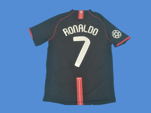 MANCHESTER UNITED 2007 2008 RONALDO 7 CHAMPIONS LEAGUE AWAY JERSEY