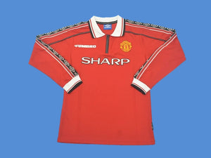 MANCHESTER UNITED 1998 1999 LONG SLEEVE HOME JERSEY