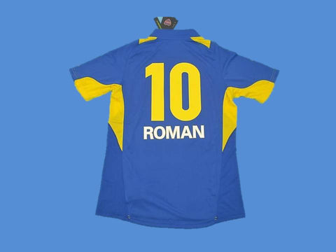 BOCA JUNIORS 2005 ROMAN 10 HOME  JERSEY