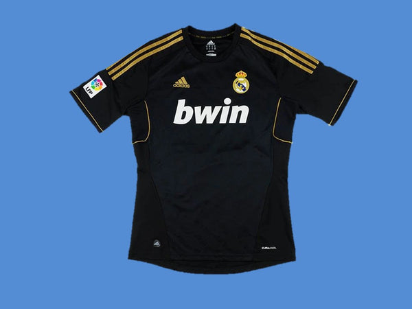 REAL MADRID 2011 2012 AWAY BLACK JERSEY