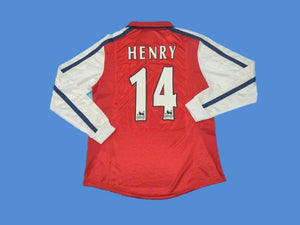 ARSENAL 2000 HENRY 14  LONG SLEEVE HOME JERSEY