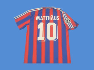 BAYERN MUNICH 1995 1997 MATTHAUS 10 HOME  JERSEY CHAMPIONS LEAGUE