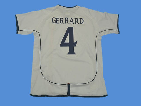 ENGLAND 2002 GERRARD 4 WORLD CUP HOME  JERSEY