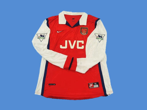 ARSENAL 1998 1999 LONG SLEEVE HOME JERSEY PREMIER LEAGUE