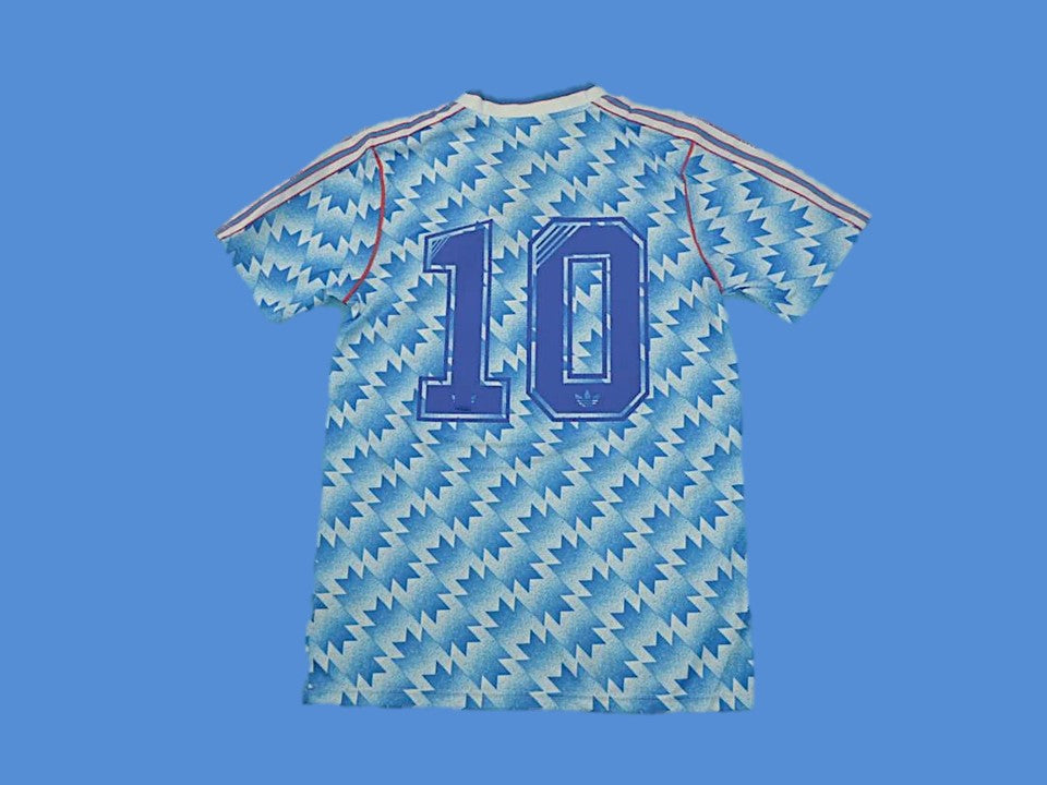 MANCHESTER UNITED 1990 1992 NUMBER 10 AWAY JERSEY