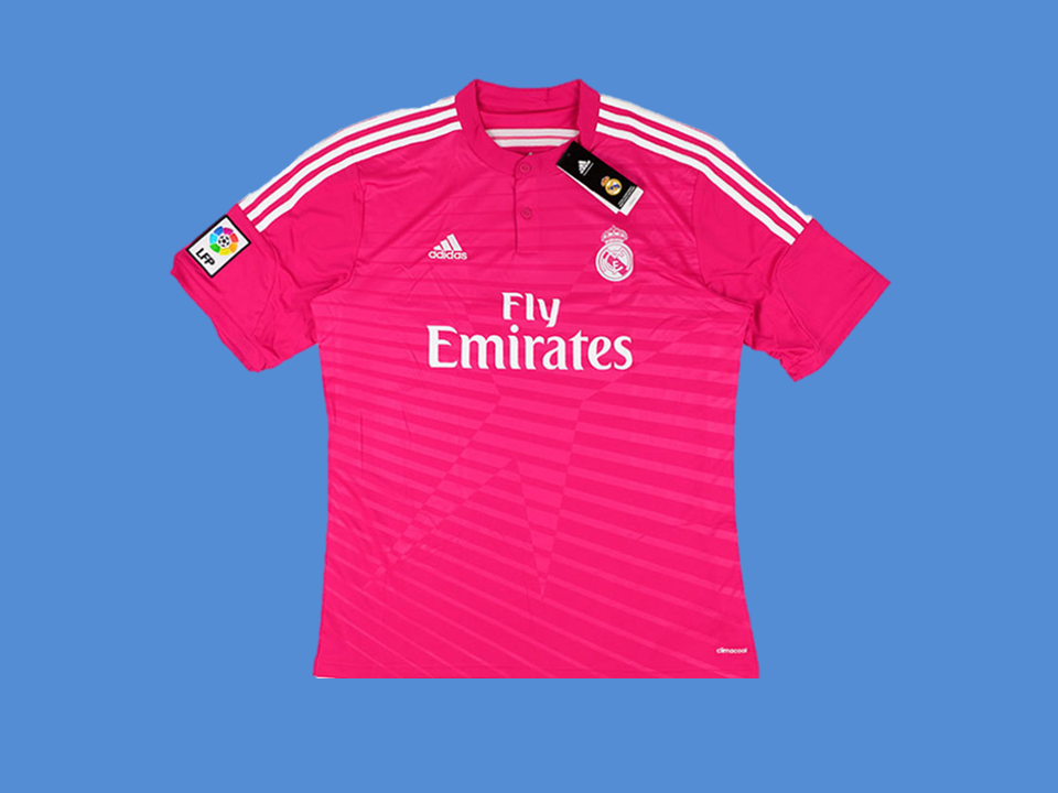 REAL MADRID 2014-2015 AWAY MENS SOCCER  JERSEY