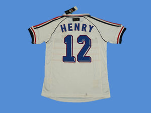 FRANCE 1998 WORLD CUP HENRY 12 AWAY JERSEY