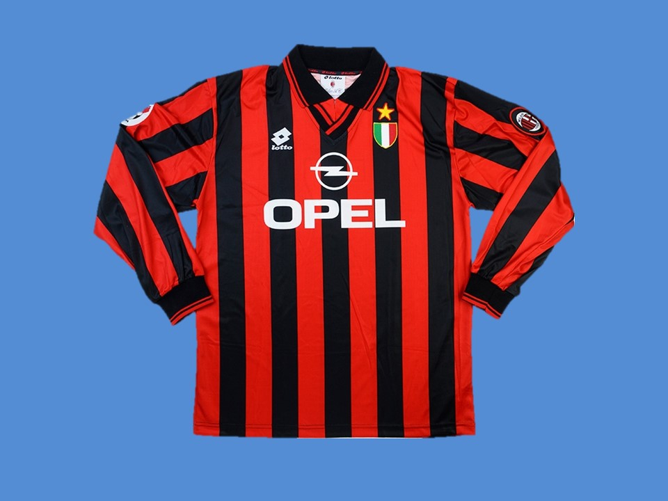 AC MILAN 1996 1997 LONG SLEEVE   HOME JERSEY