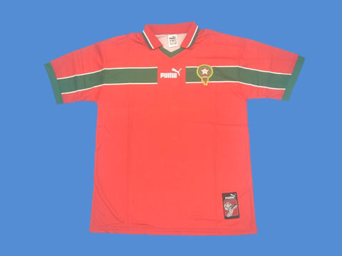 MOROCCO 1998 WORLD CUP RED JERSEY