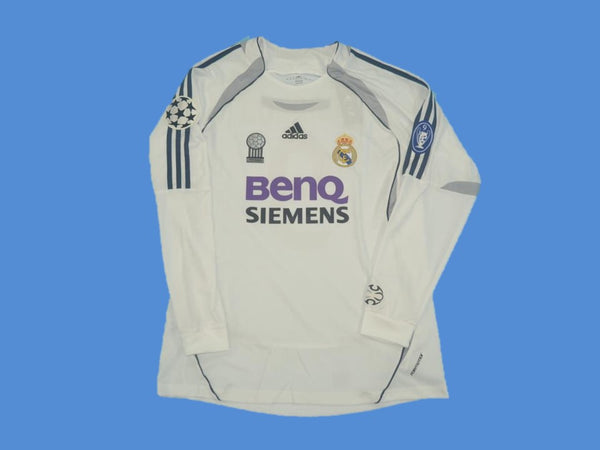 REAL MADRID 2006 2007 CHAMPIONS LEAGUE RONALDO 9 HOME JERSEY LONG SLEEVE