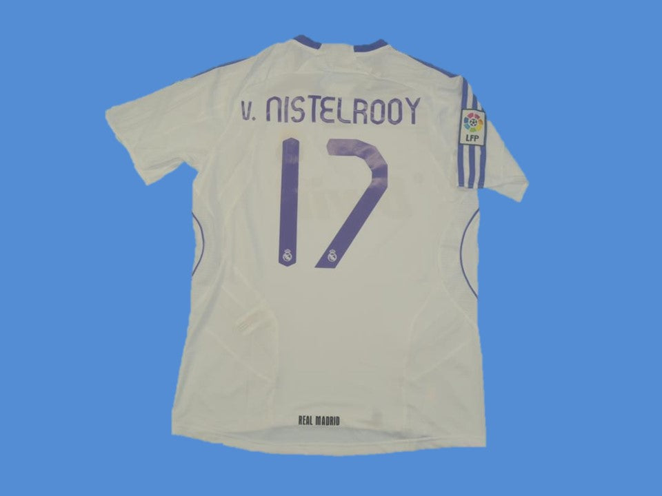 REAL MADRID 2007 2008 VAN NISTELROOY 17 HOME JERSEY