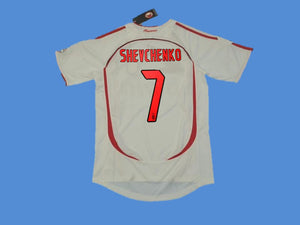 AC MILAN 2006 2007 SHEVCHENKO 7 FINAL AWAY JERSEY