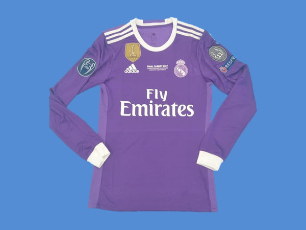 REAL MADRID 2016-2017 RONALDO 7 CHAMPIOS LEAGUE AWAY JERSEY LONG SLEEVE