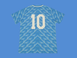 NETHERLANDS HOLLAND 1988 NUMBER 10 AWAY JERSEY