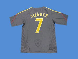 LIVERPOOL 2009 2010 SUAREZ 7 AWAY JERSEY
