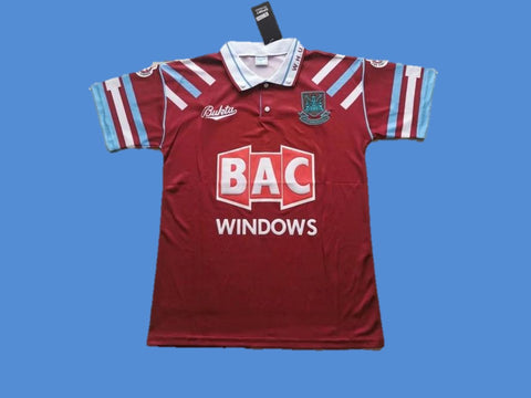 WEST HAM  UNITED 1991 1992 HOME JERSEY