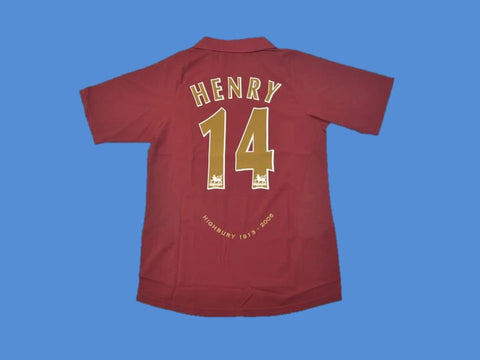 ARSENAL 2005 2006 HENRY 14 HIGHBURY HOME JERSEY