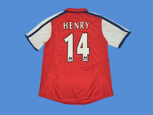 ARSENAL 2000 HENRY 14 HOME JERSEY