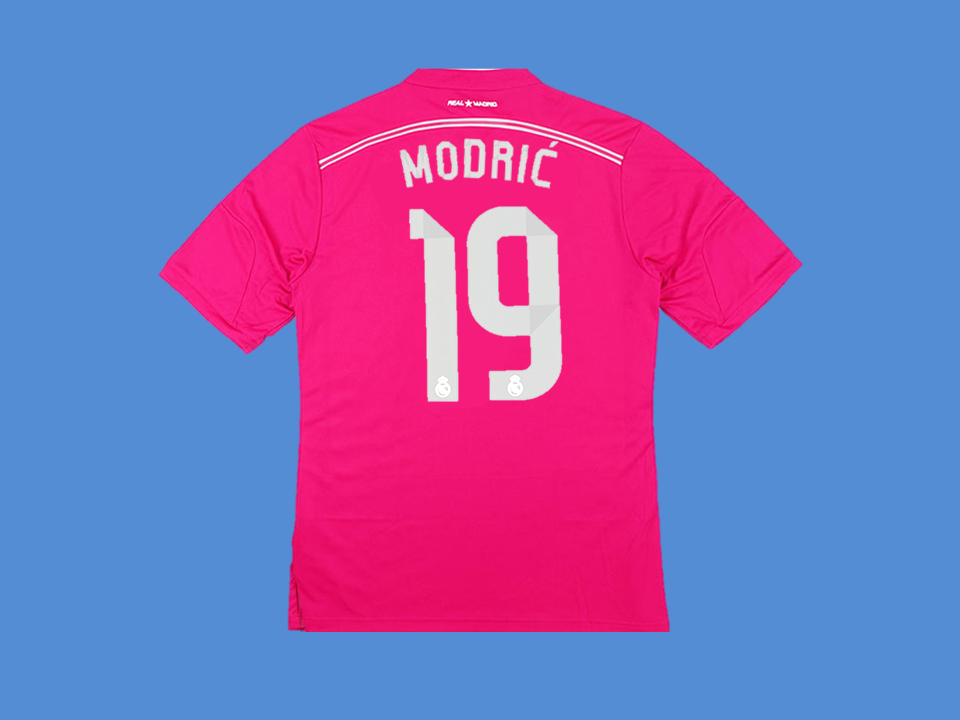 REAL MADRID 2014-2015 MODRIC 19   AWAY MENS SOCCER  JERSEY