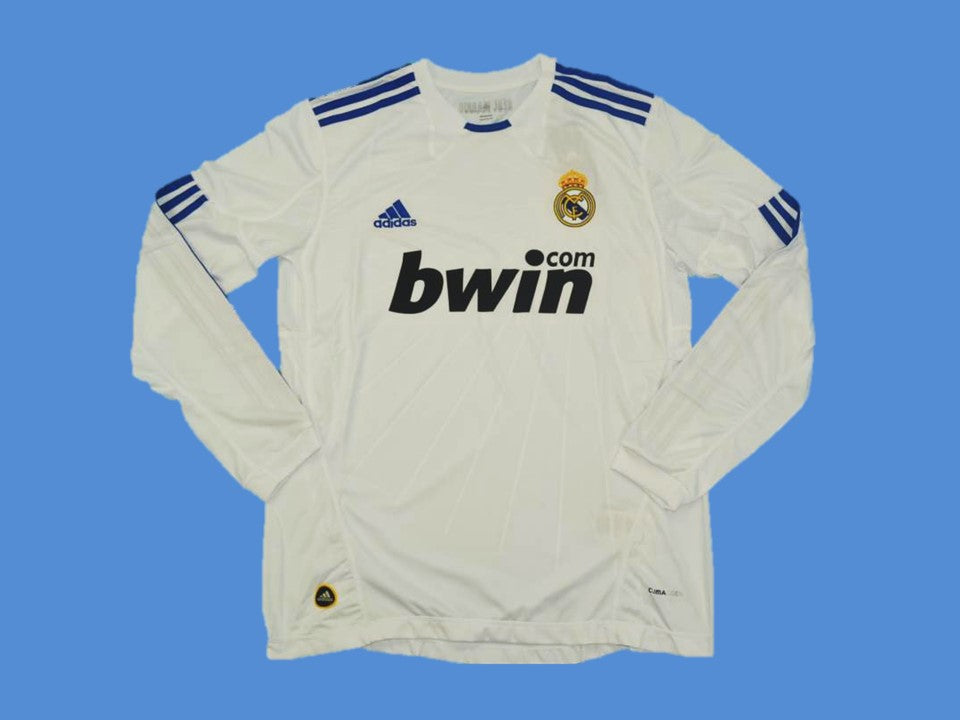 REAL MADRID 2010 2011 HOME JERSEY LONG SLEEVE