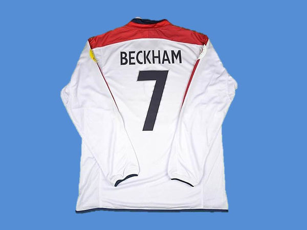 ENGLAND 2004 BECKHAM 7 LONG SLEEVE HOME JERSEY
