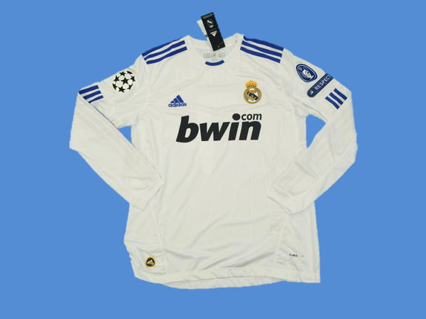 REAL MADRID 2010 2011 HOME JERSEY LONG SLEEVE CHAMPIONS LEAGUE