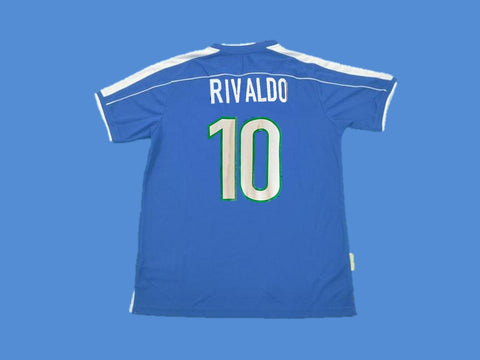 BRAZIL BRASIL 1998 RIVALDO 10  WORLD CUP AWAY JERSEY