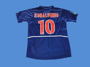 PARIS SAINT GERMAIN PSG 2002 RONALDINHO 10 HOME JERSEY