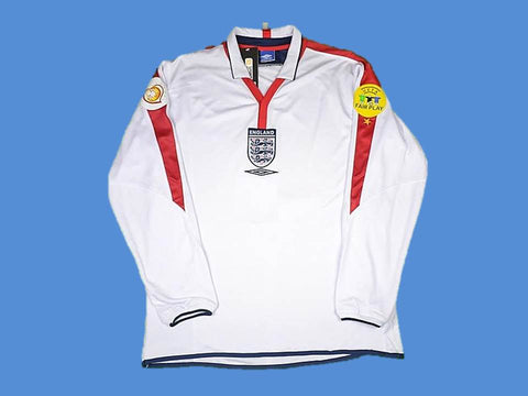 ENGLAND 2004 LONG SLEEVE HOME JERSEY