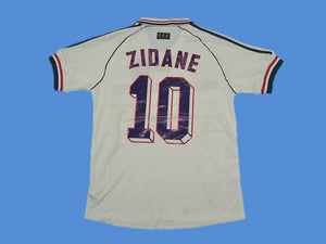 FRANCE 1998 WORLD CUP ZIDANE 10 AWAY JERSEY
