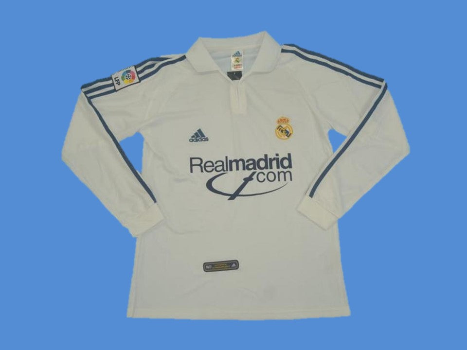 REAL MADRID 2001 LONG SLEEVE LOGO HOME JERSEY