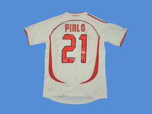 AC MILAN 2006 2007 PIRLO 21 FINAL AWAY JERSEY
