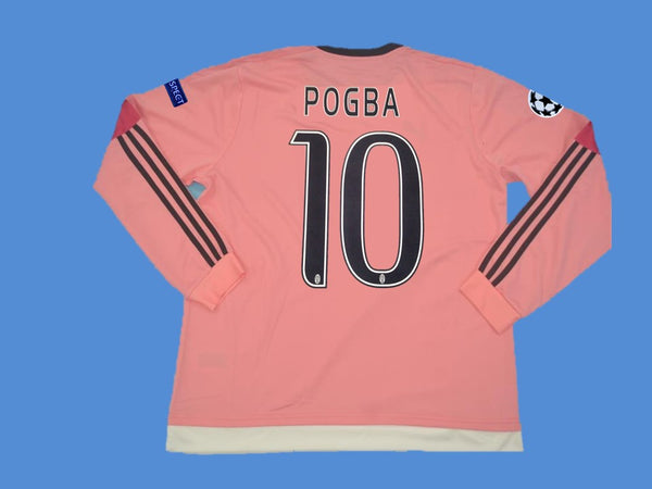 JUVENTUS 2015 2016 POGBA 10 UCL AWAY JERSEY LONG SLEEVE