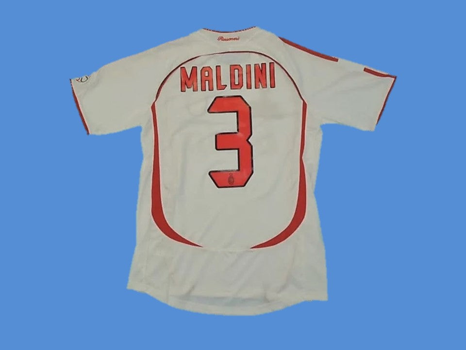 AC MILAN 2006 2007 MALDINI 3 FINAL AWAY JERSEY