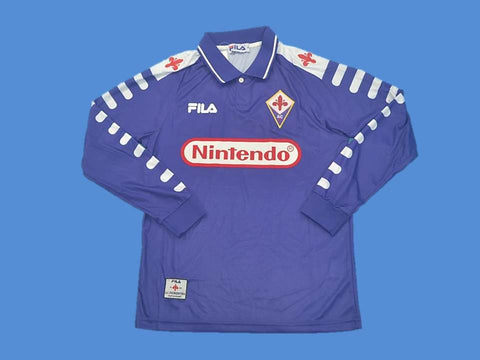 FIORENTINA 1998 1999 LONG SLEEVE HOME JERSEY