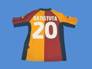AS ROMA 2001 2002 BATISTUTA 20  HOME JERSEY