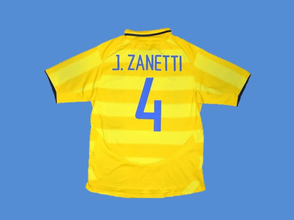 INTER MILAN 2003 2004 J. ZANETTI 4  AWAY JERSEY