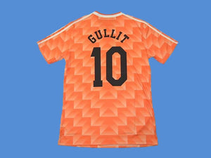 NETHERLANDS HOLLAND 1988 GULLIT 10 HOME JERSEY