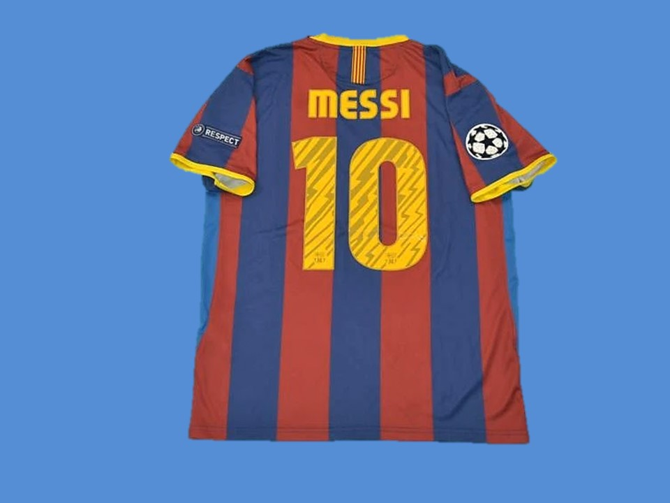 barcelona 2010 2011 messi 10 ucl final home jersey vintage jerseys vintage jerseys