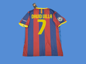 BARCELONA 2010 2011 DAVID VILLA 7  UCL FINAL HOME JERSEY