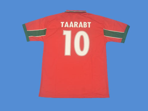 MOROCCO 1998 TAARABT 10 WORLD CUP RED JERSEY