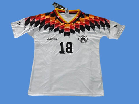 GERMANY 1994 KLINSMANN 18 WORLD CUP HOME JERSEY