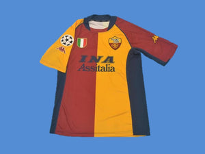AS ROMA 2001 2002 UCL HOME JERSEY