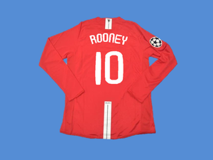 MANCHESTER UNITED 2007 2008 ROONEY 10  UCL FINAL HOME JERSEY